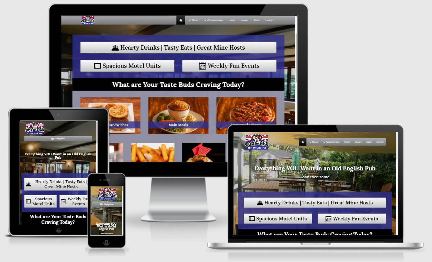 Homepage Of Cork & Keg Before Website Redesign By iBeFound Digital Marketing NZ