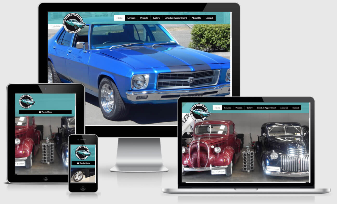 Website Design For Marlborough Classic And Custom Restorations By iBeFound
