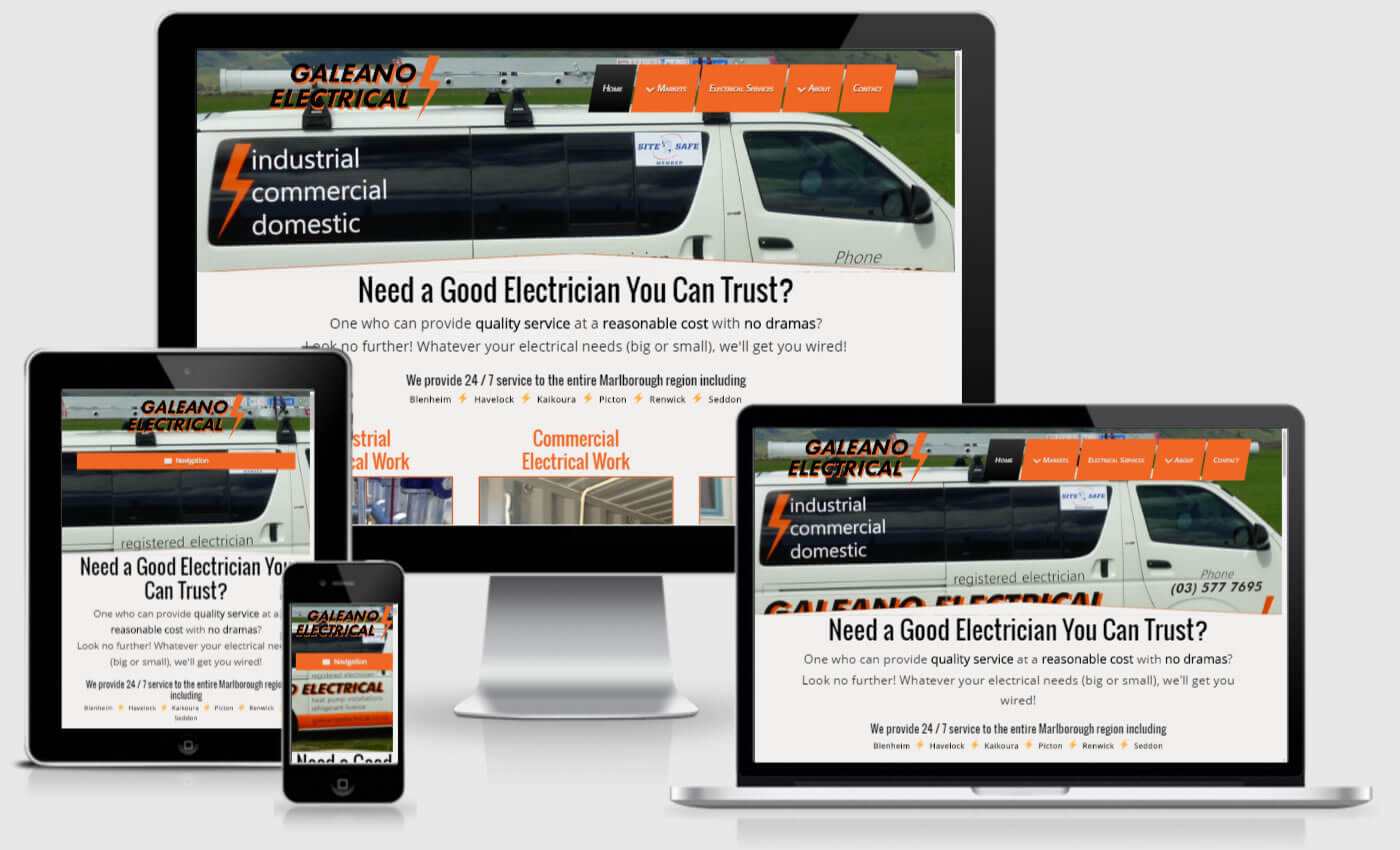 Website Redesign For Galeano Electrical Ltd By iBeFound