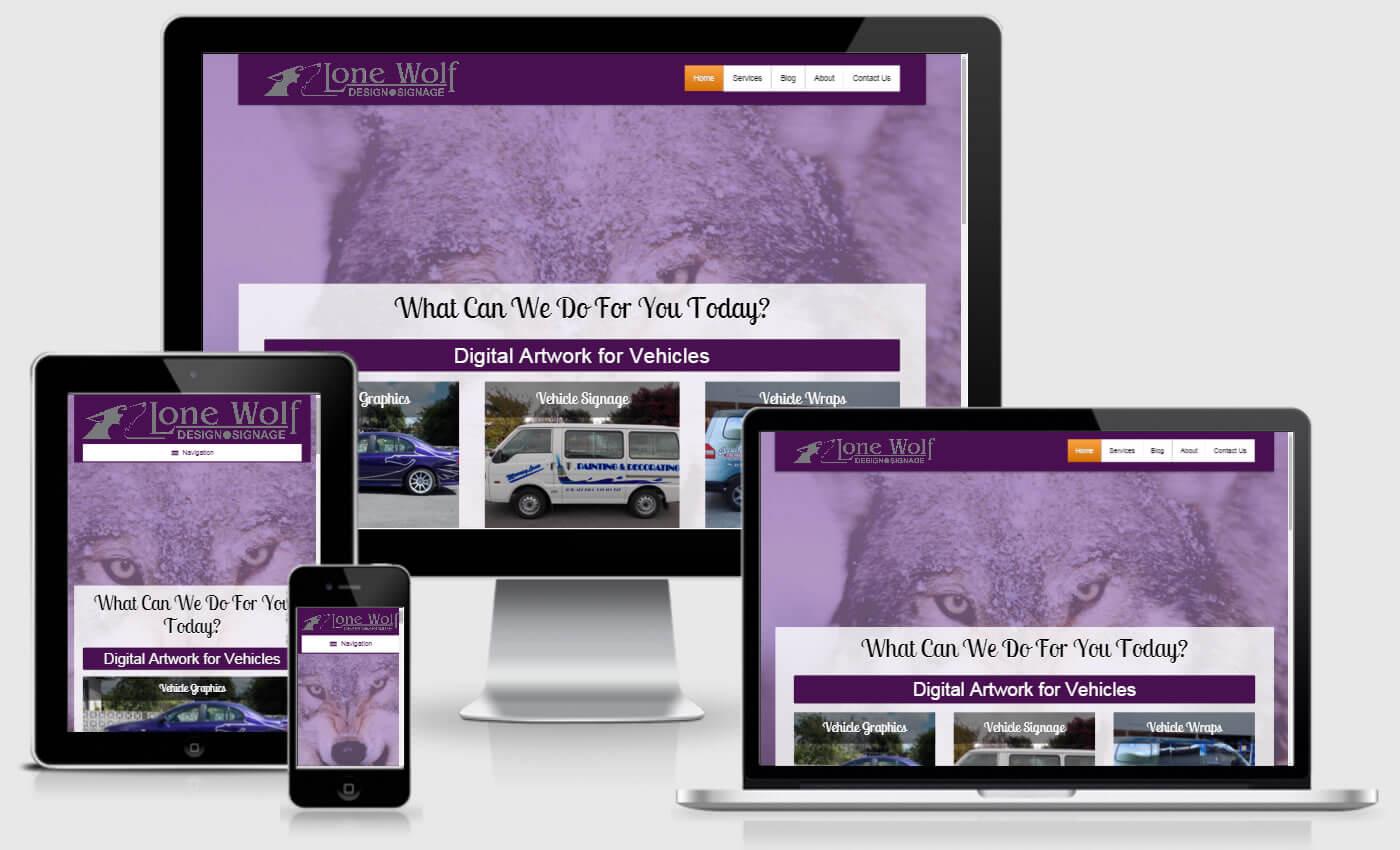 Website Design For Lone Wolf Design by iBeFound Digital Marketing Division Marlborough NZ