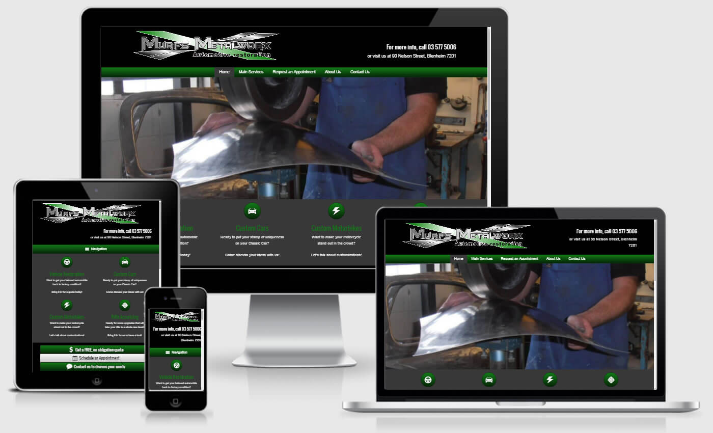 Website Design For Murfs Metalworx by iBeFound Digital Marketing Division Marlborough NZ