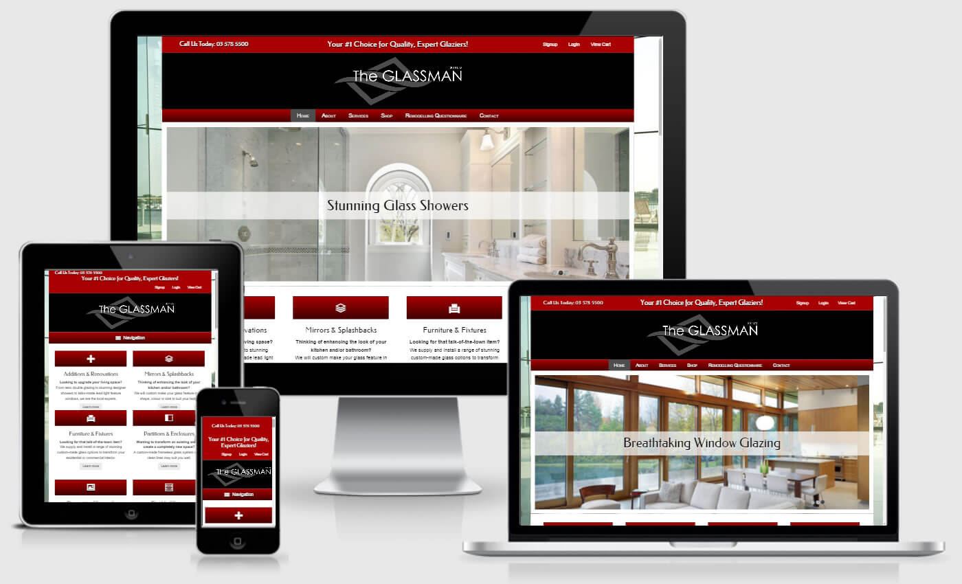 Website Design For The Glassman 2014 by iBeFound Digital Marketing Division Marlborough NZ