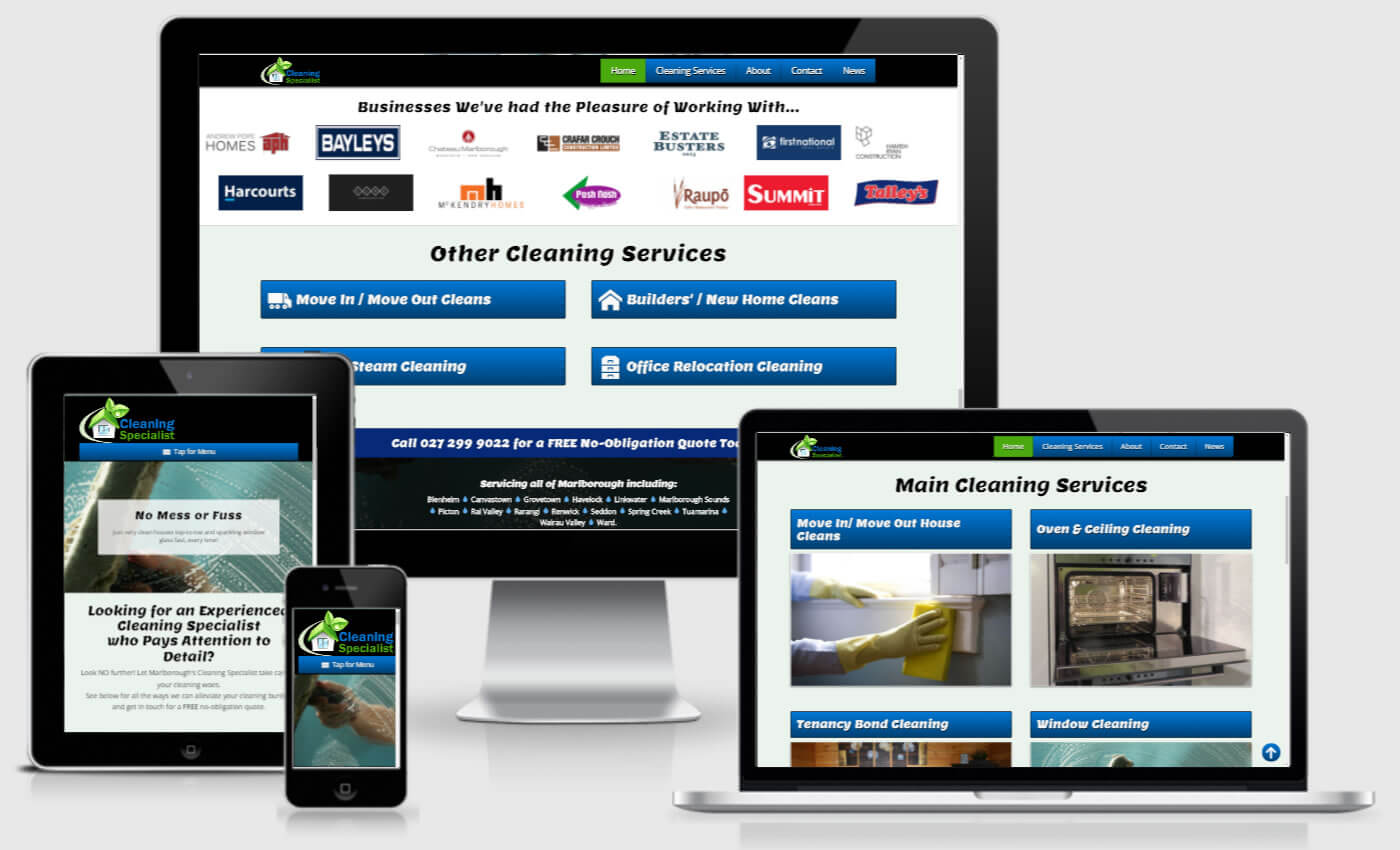 Website Design For Cleaning Specialist By IBeFound Digital Marketing Division