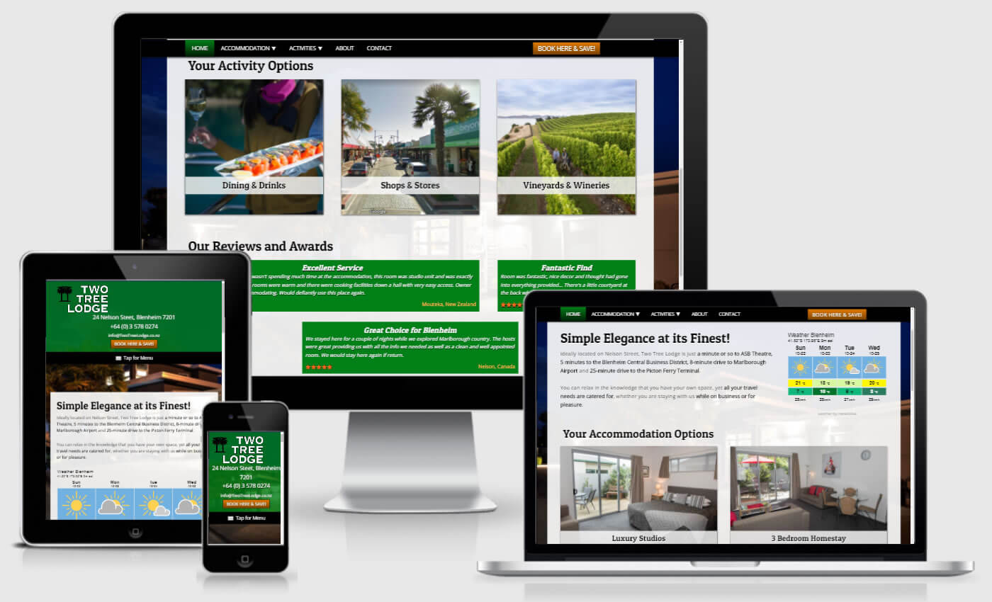 Website Design For Two Tree Lodge By IBeFound Digital Marketing Division