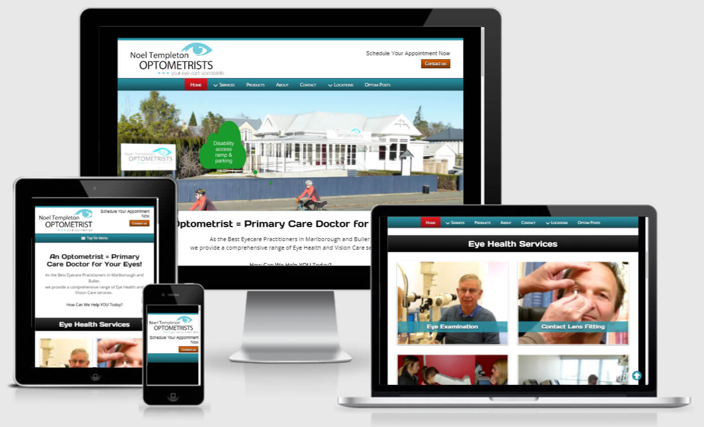 Website Design For Noel Templeton Optometrists By IBeFound Digital Marketing Division