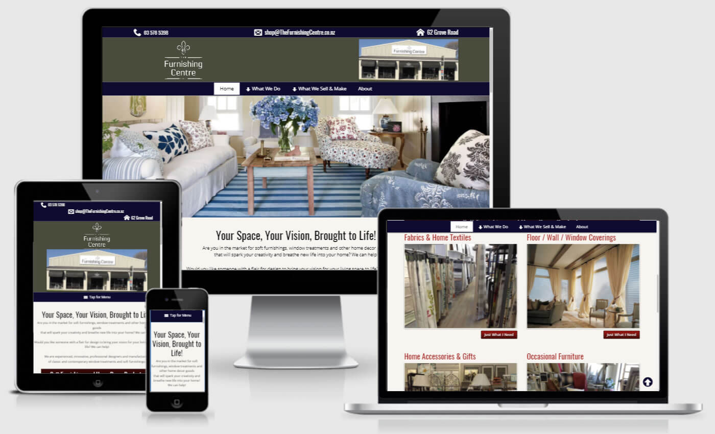 Website Design For The Furnishing Centre By IBeFound Digital Marketing Division