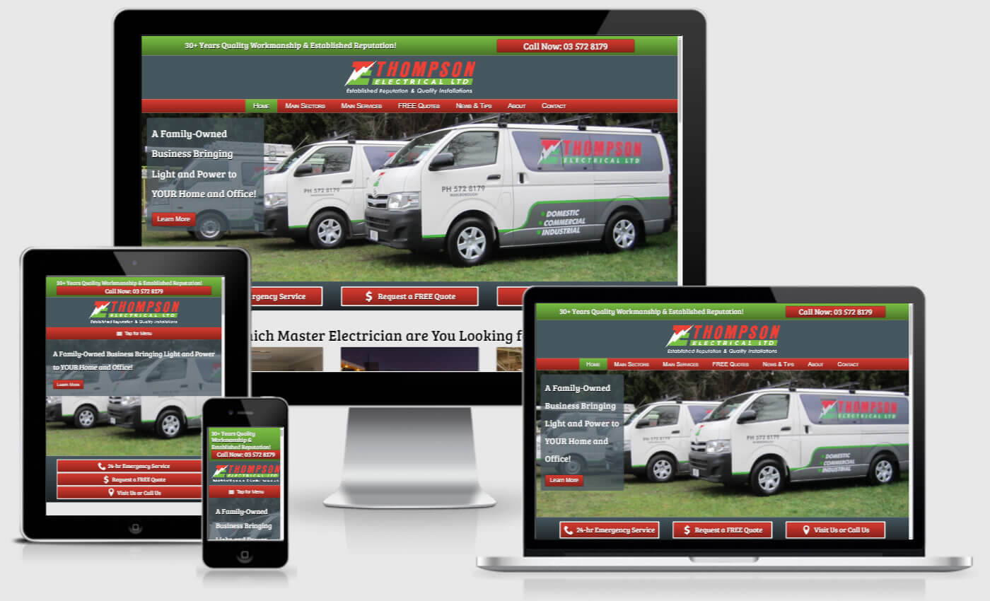 Website Design For Thompson Electrical Ltd By IBeFound Digital Marketing Division