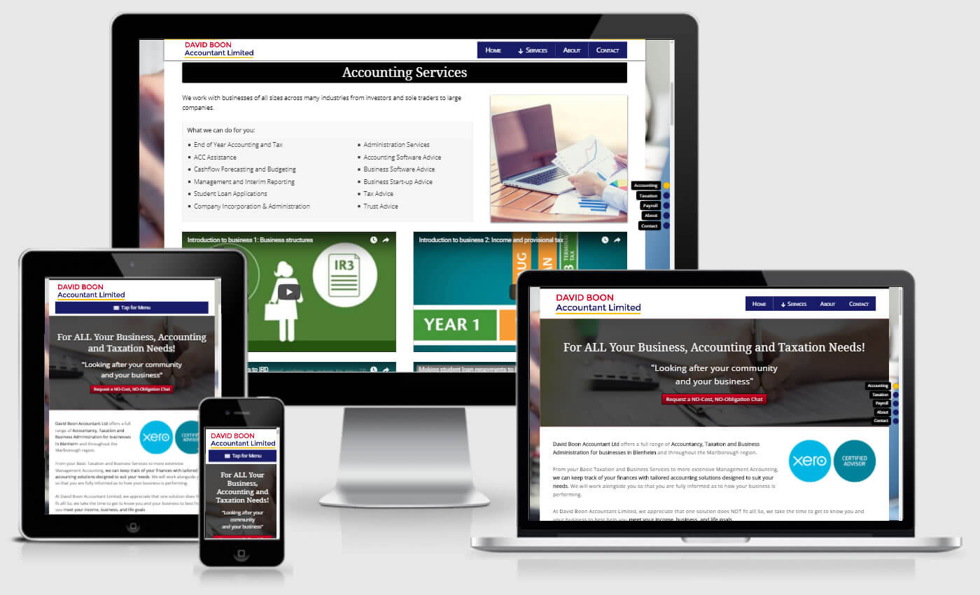 Website Design For David Boon Accountant Ltd By IBeFound Digital Marketing Division Marlborough