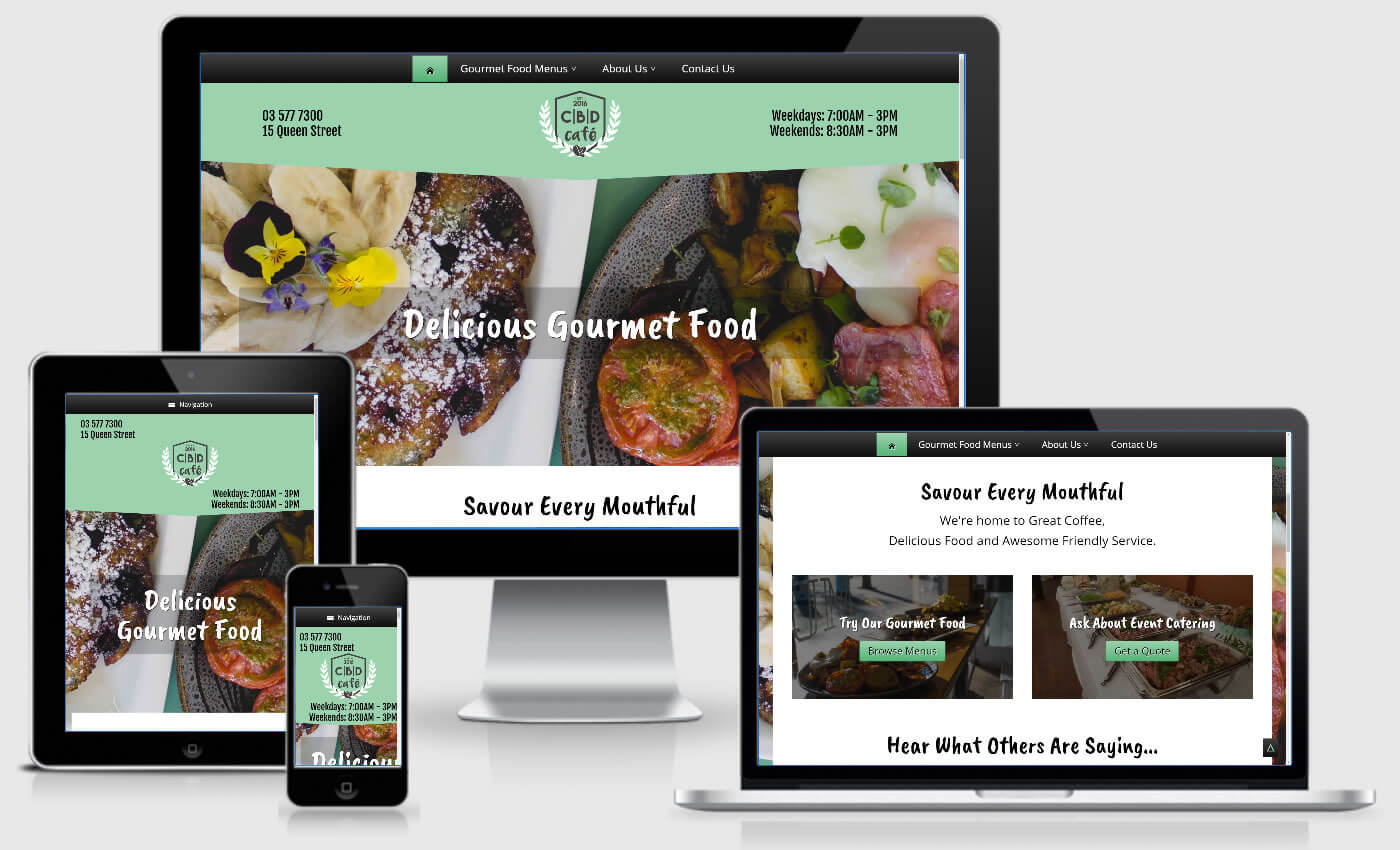 Website Design For CBD Cafe In Blenheim