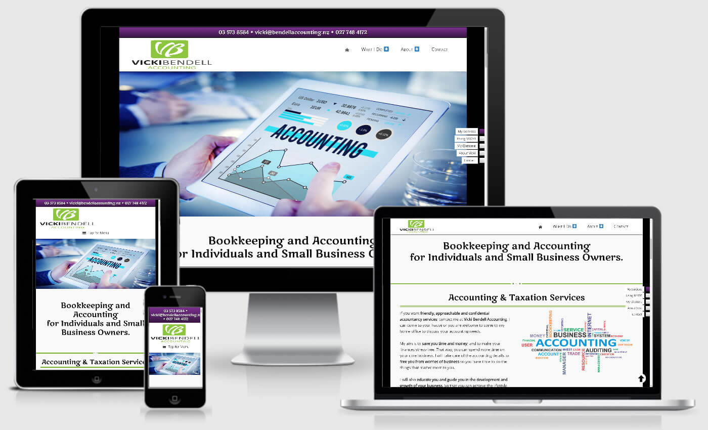 Website Design For Vicki Bendell Accounting In Marlborough