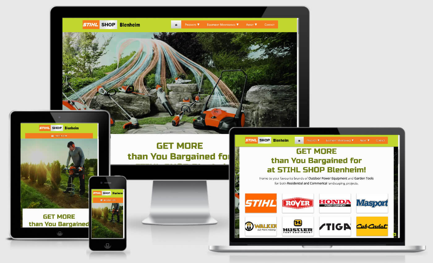 Website Design For STIHL SHOP Blenheim By iBeFound