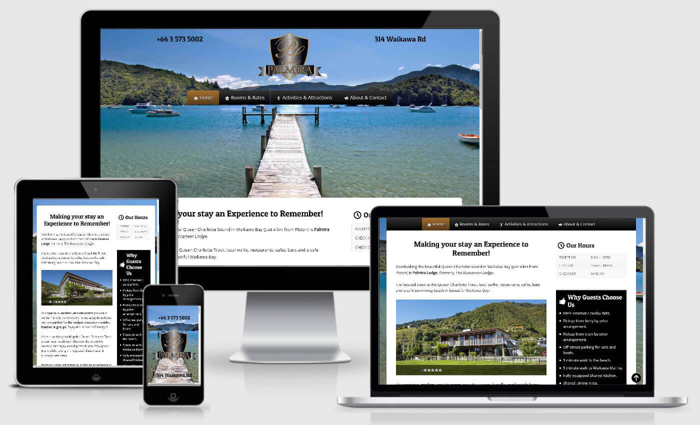 Website Design For Palmira Lodge By IBeFound
