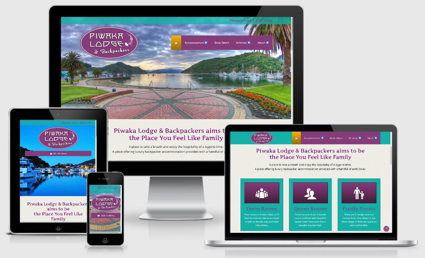 Website Redesign For Piwaka Lodge & Backpackers By iBeFound Digital Marketing Division in Marlborough