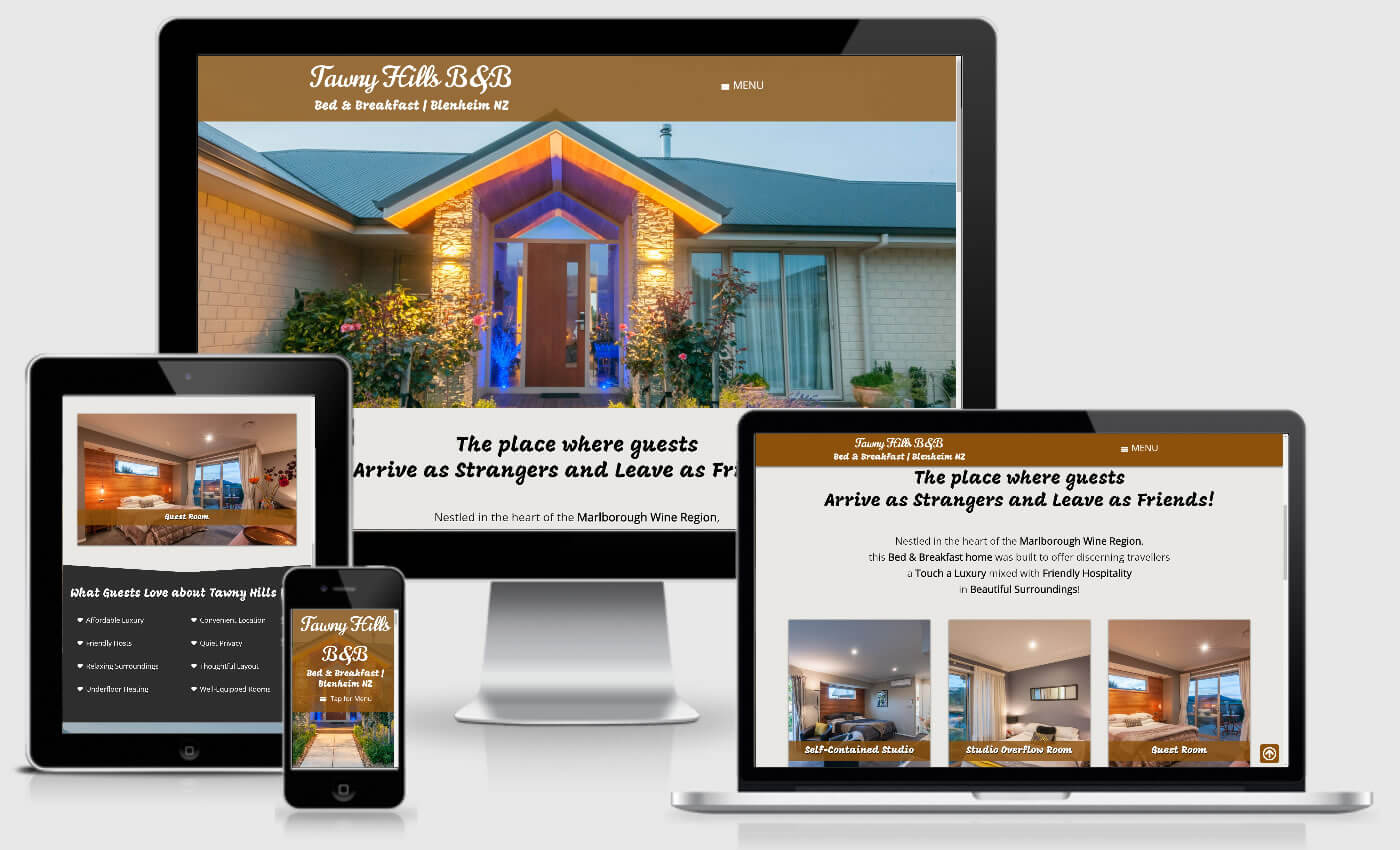 Website Design For Tawny Hills BnB By IBeFound Digital Marketing