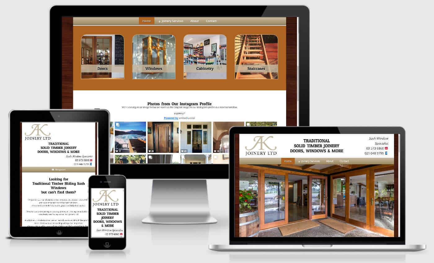 Website Design For AK Joinery Ltd By IBeFound Digital Marketing