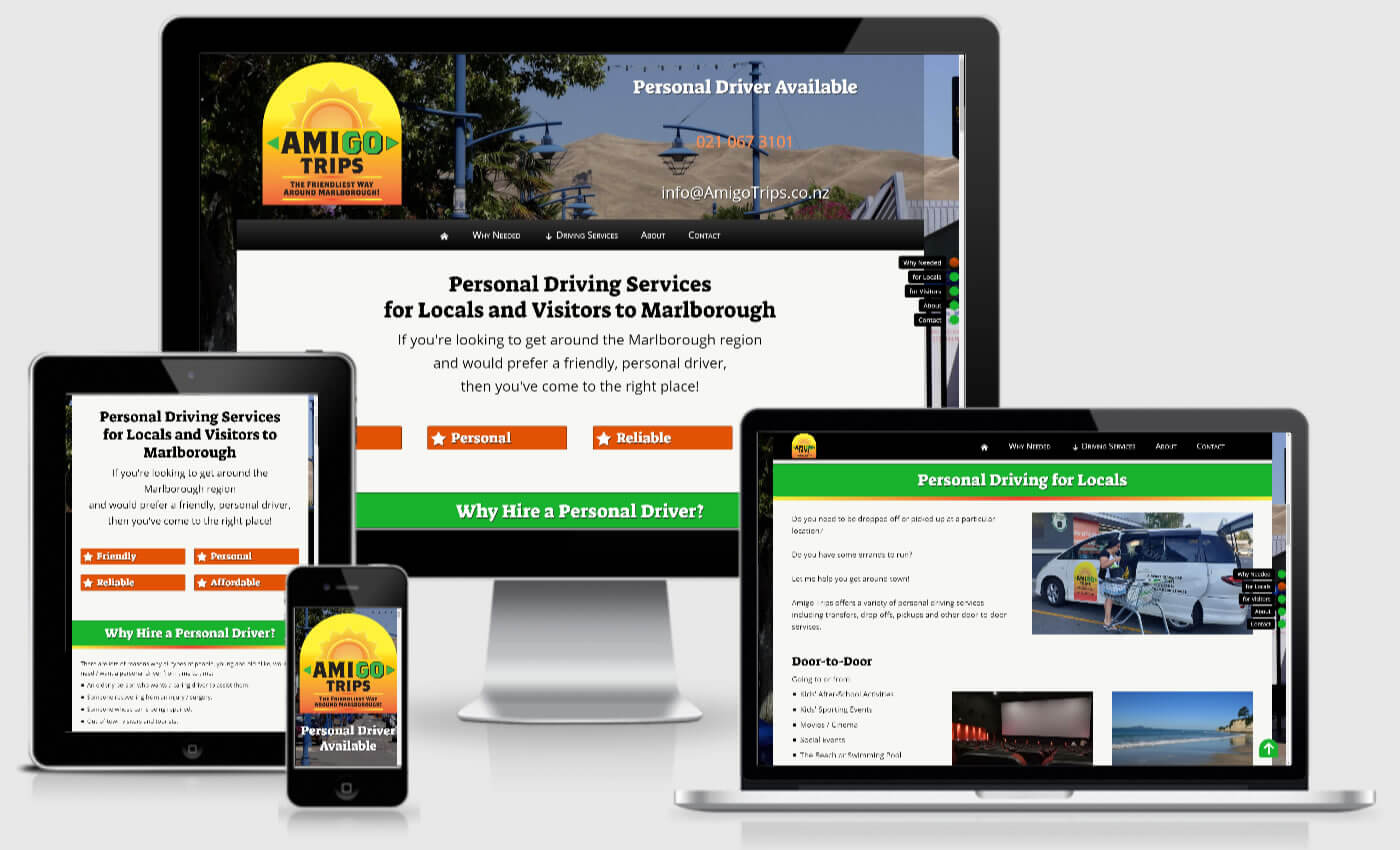 Website Design For Amigo Trips By iBeFound Digital Marketing