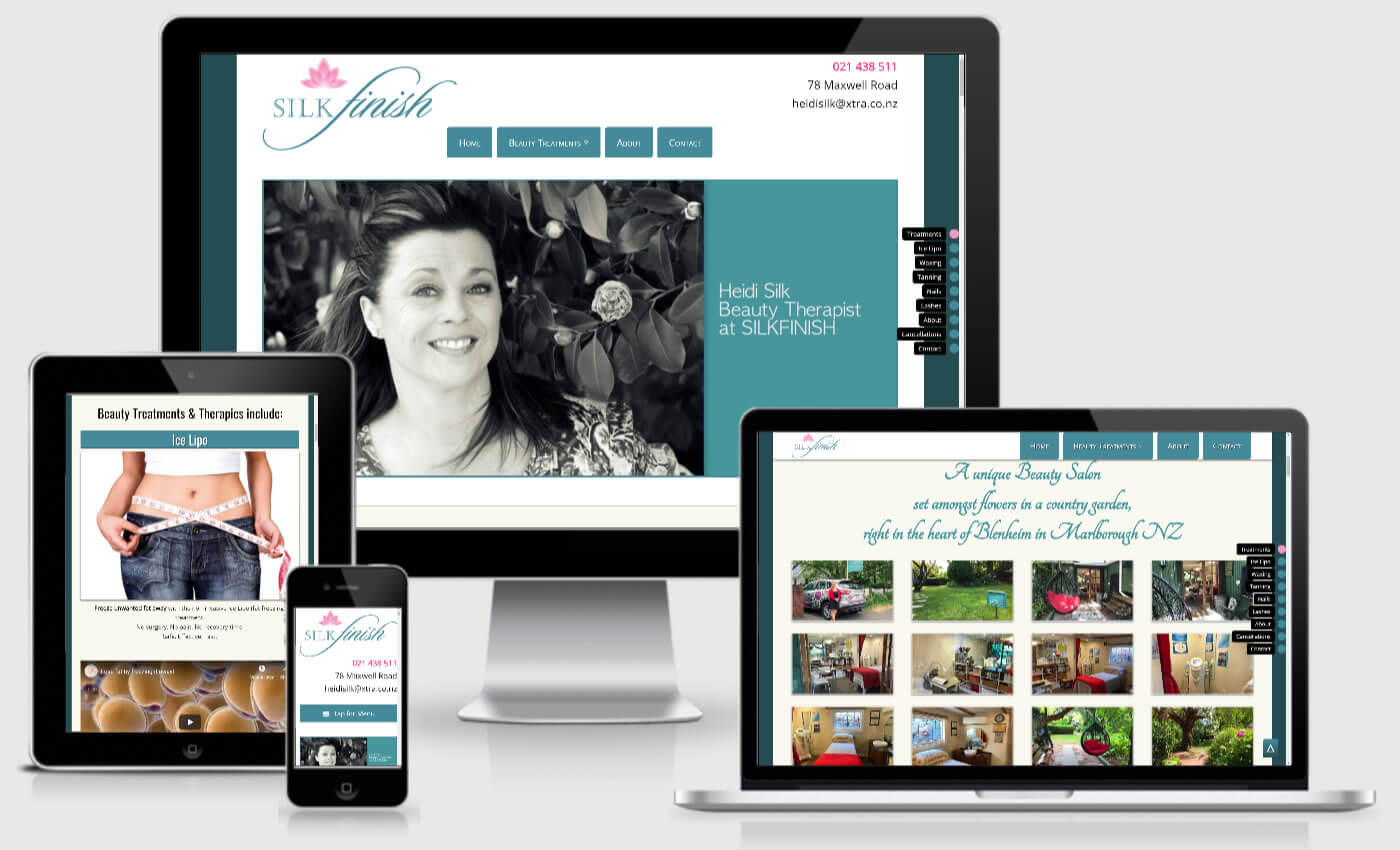 Website Design For Silk Finish Beauty Salon By IBeFound Digital Marketing