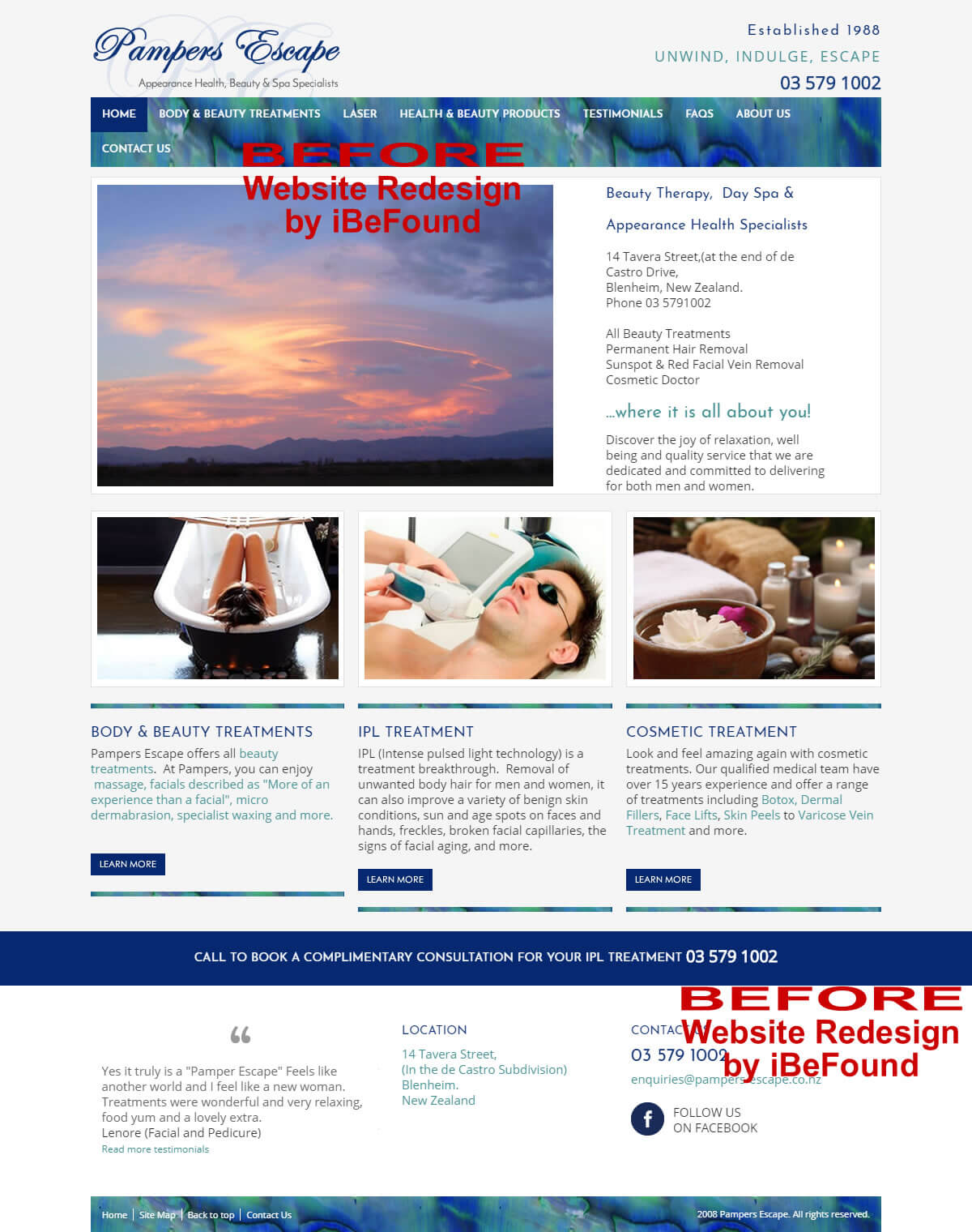 Homepage Of Pampers Escape Before Website Redesign By IBeFound Digital Marketing