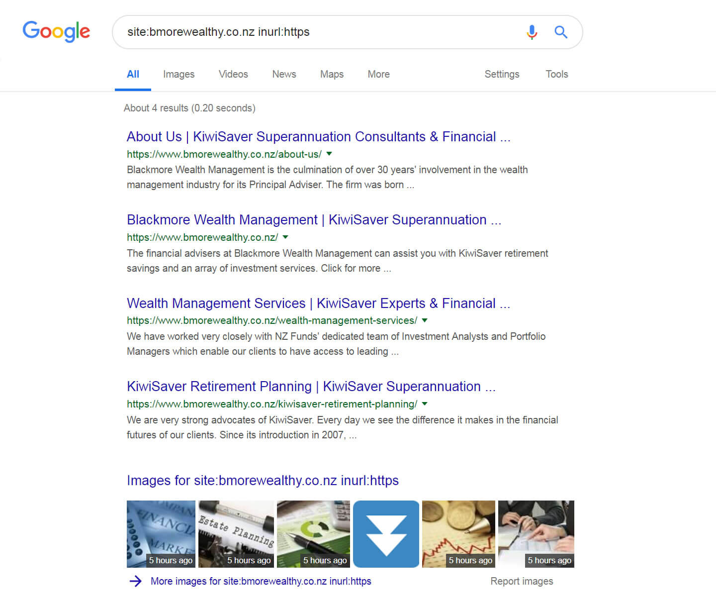 Site Search For HTTPS Version Of Blackmore Wealth Management