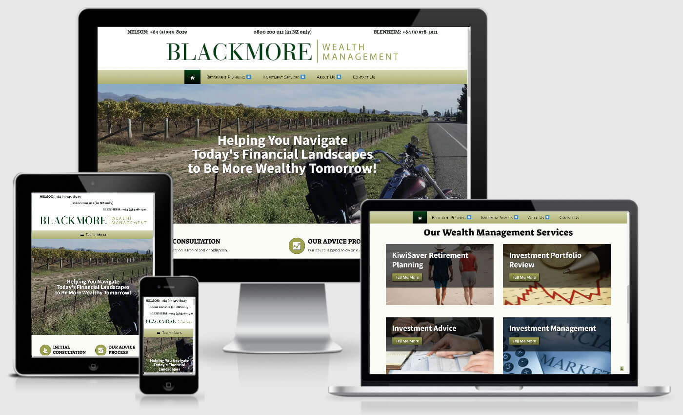 Website Design For Blackmore Wealth Management By iBeFound Digital Marketing