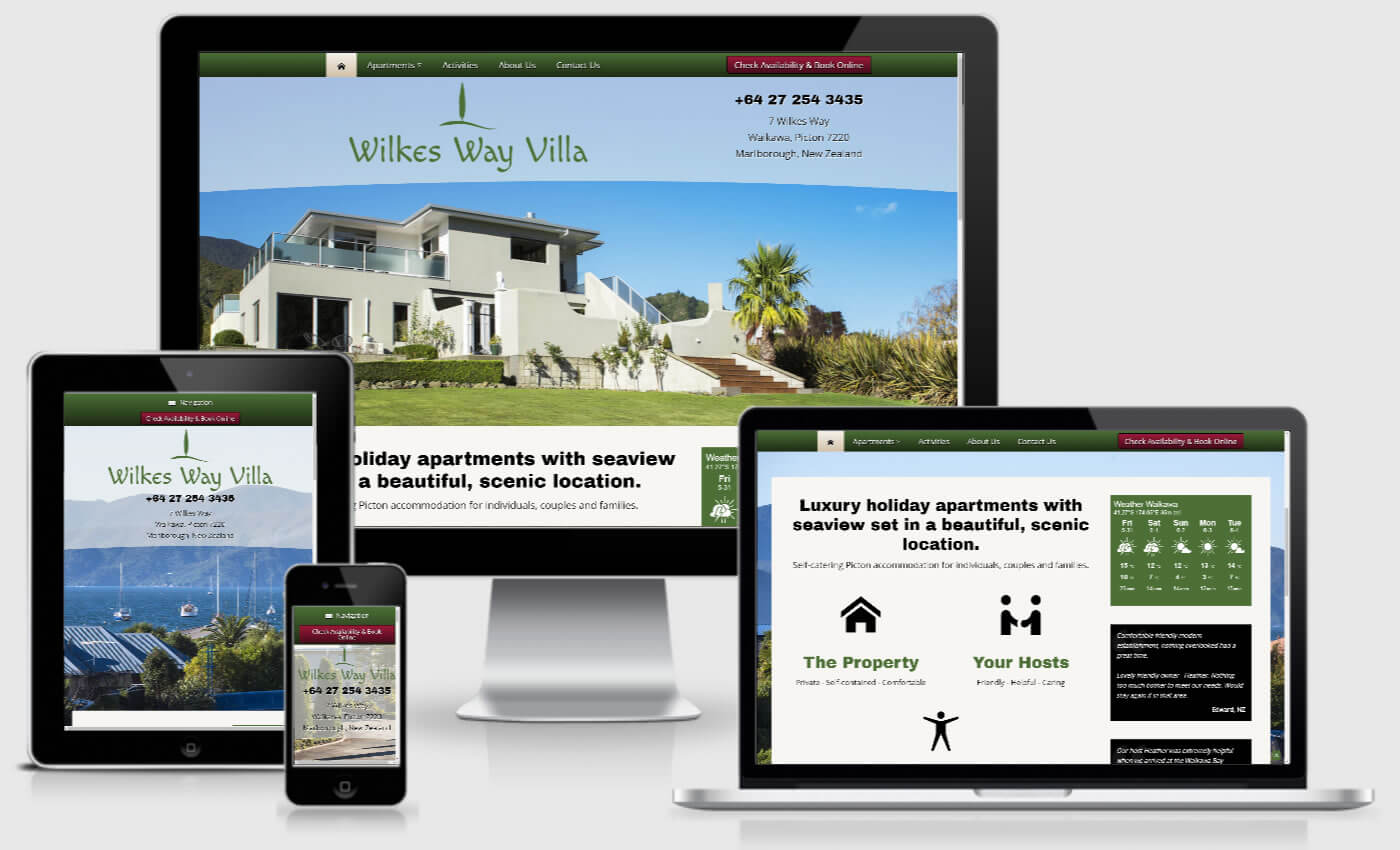 Website Design For Wilkes Way Villa By iBeFound Digital Marketing NZ