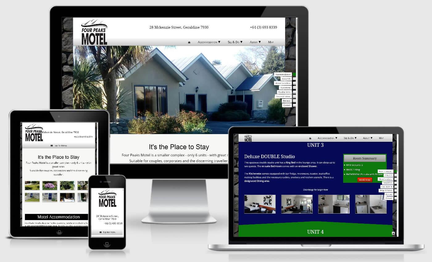 Website Design For Four Peaks Motel By IBeFound Digital Marketing