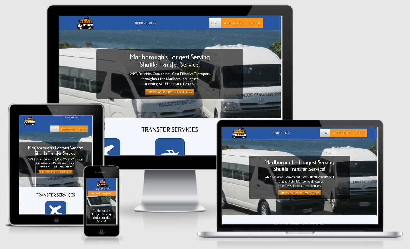Website Design For Marlborough Shuttles By iBeFound