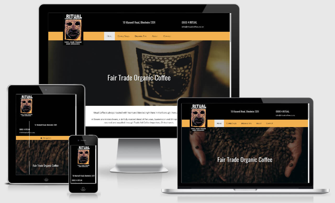 Website Design For Ritual Coffee Company By iBeFound